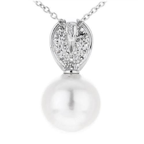 pendentif femme argent zirconium perle 8300389 pic3