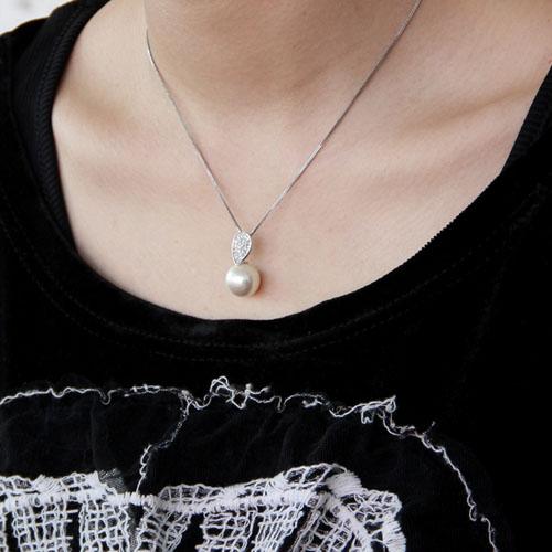 pendentif femme argent zirconium perle 8300389 pic5