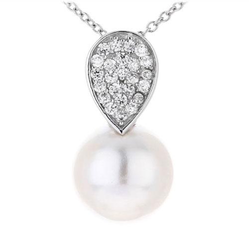 pendentif femme argent zirconium perle 8300389