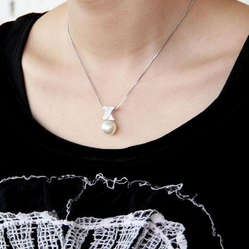 pendentif femme argent zirconium perle 8300391 pic5