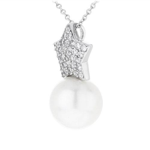 pendentif femme argent zirconium perle 8300392 pic2