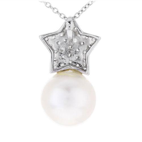 pendentif femme argent zirconium perle 8300392 pic3
