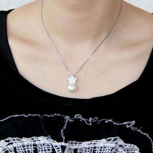 pendentif femme argent zirconium perle 8300392 pic4
