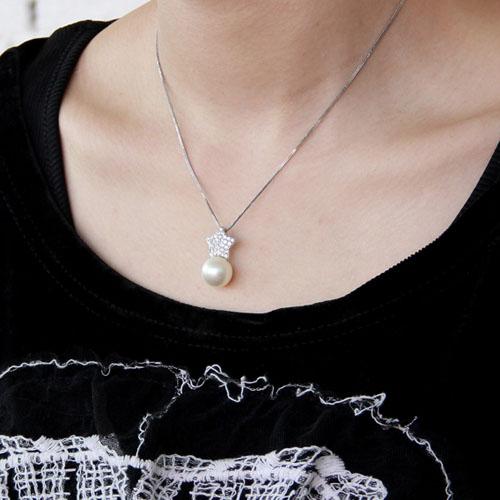 pendentif femme argent zirconium perle 8300392 pic5