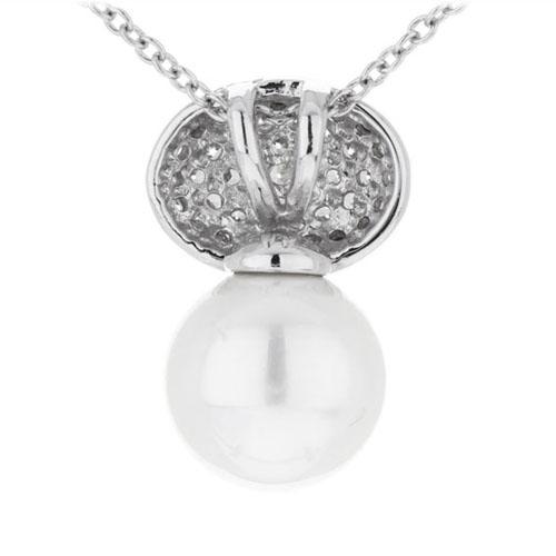 pendentif femme argent zirconium perle 8300393 pic3