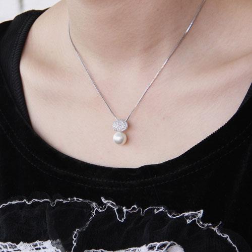 pendentif femme argent zirconium perle 8300393 pic4