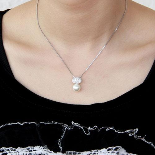 pendentif femme argent zirconium perle 8300393 pic5