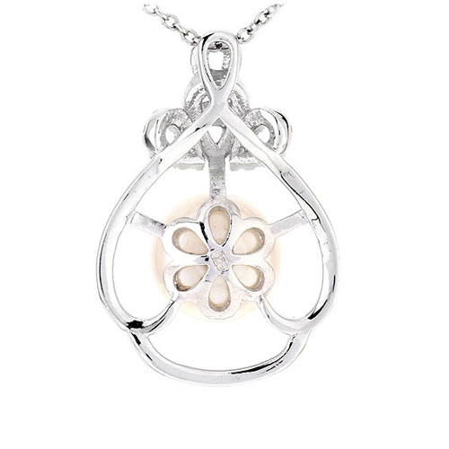 pendentif femme argent zirconium perle 8300534 pic3