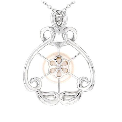 pendentif femme argent zirconium perle 8300535 pic3