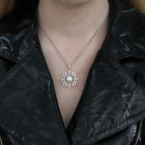 pendentif femme argent zirconium perle 8300536 pic4