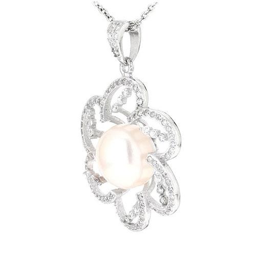 pendentif femme argent zirconium perle 8300537 pic2