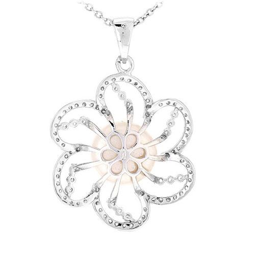 pendentif femme argent zirconium perle 8300537 pic3