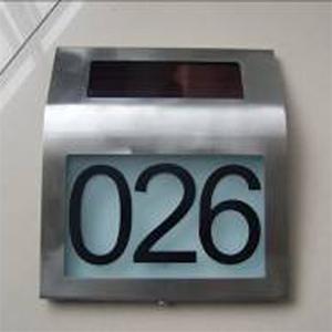 plaque numero maison solaire SOLNUM3 pic2