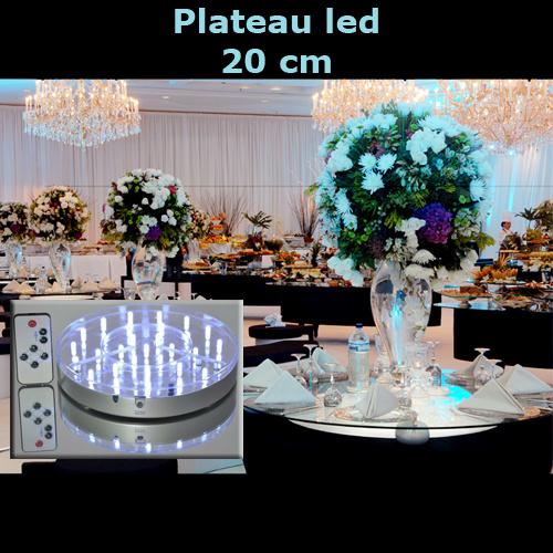 plateau led 20cm LEDTR836