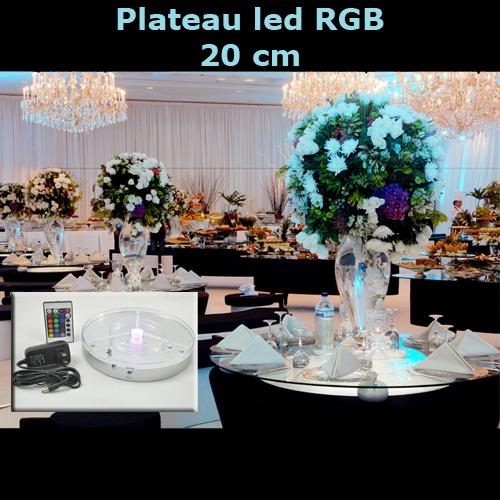 plateau led RGB 20cm LEDTR81