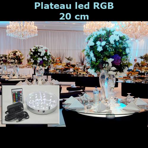 plateau led RGB 20cm LEDTR818