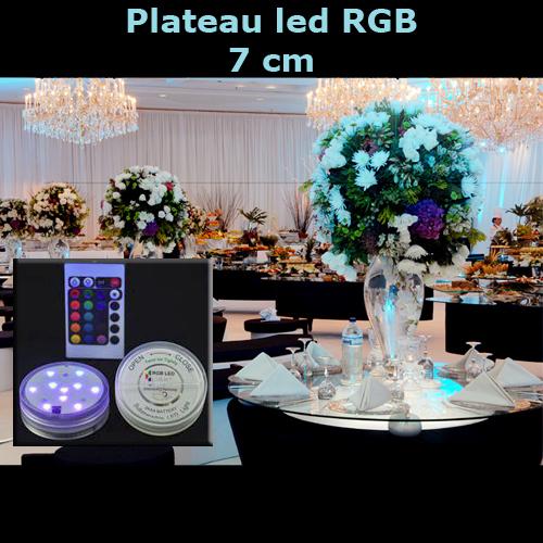 plateau led RGB 7cm LEDTR39