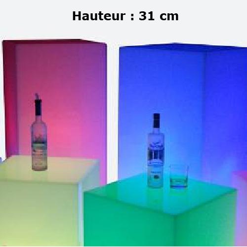 presentoir cube led 31cm