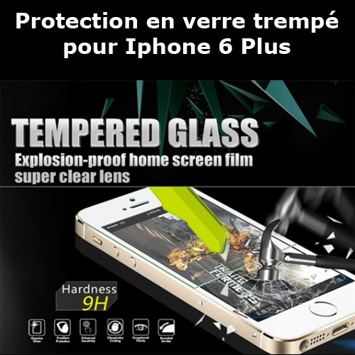protection verre trempe iphone6 plus