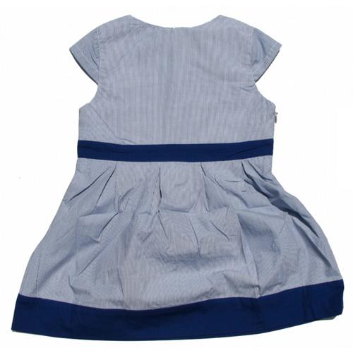 robe bleue manches courtes filles TT4068 pic3