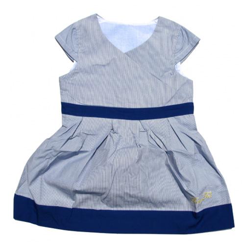 robe bleue manches courtes filles TT4068