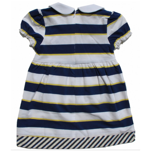 robe longue bandes bleues filles TT4059 pic2