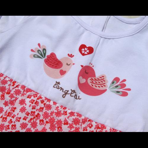 robe oiseaux filles TT0131 pic3