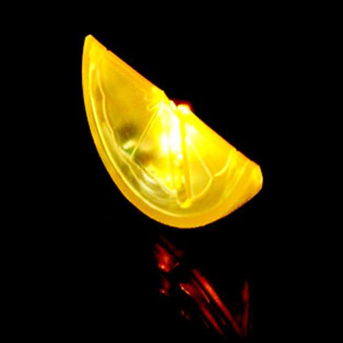 rondelle citron lumineuse led