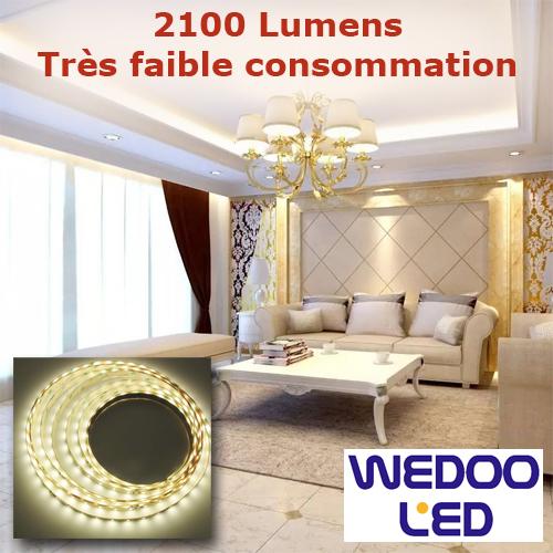 ruban led puissant super eco SMD2835 64 leds BTF283564IP20