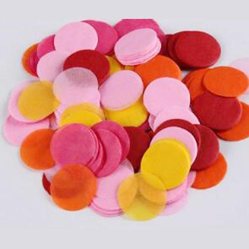 sac confettis ronds 6cm