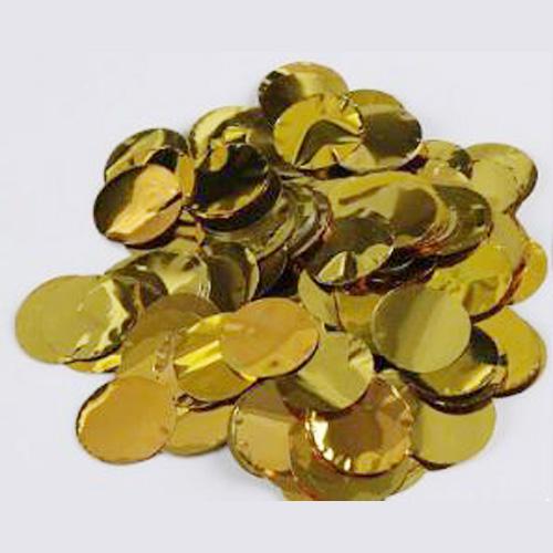 sac confettis ronds aluminium 6cm