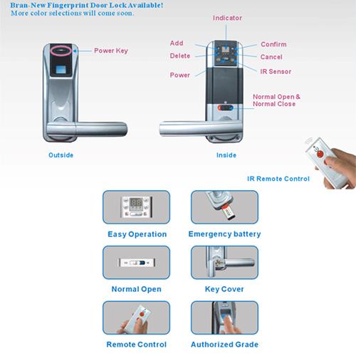 serrure biometrique telecommande pic3