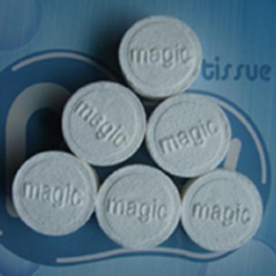 serviettes magiques compressees