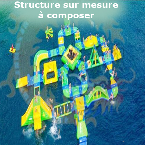 structure gonflable aquatique a composer STRGNFJ565
