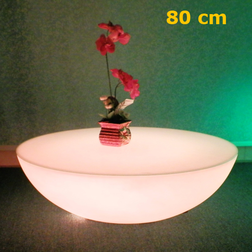 table basse lumineuse led 80cm