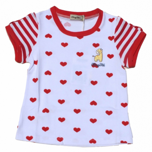 tshirt fille coeurs TTXT0051 pic3