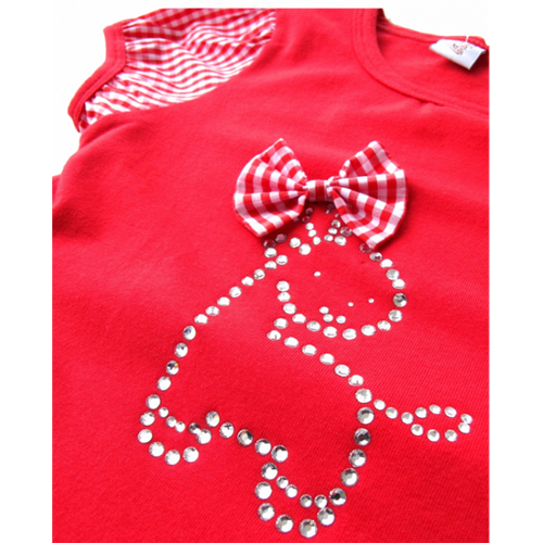 tshirt fille noeud papillon TTPR2112 pic4