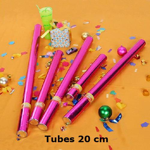 tubes confettis 20cm SS1D