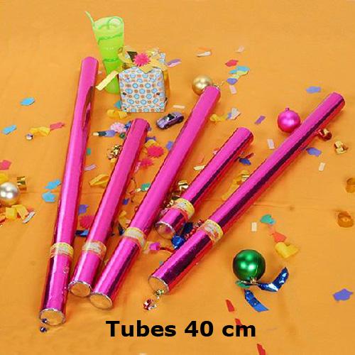 tubes confettis 40cm SS1D