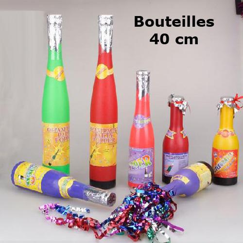 tubes confettis bouteille 40cm