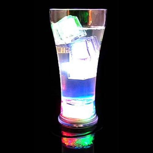 verre glacons lumineux led