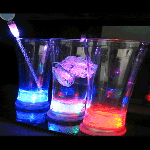 verre jus de fruits lumineux led