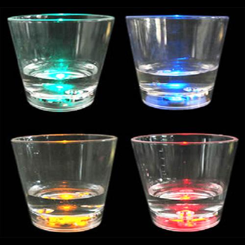 verre lumineux led 60ml detecteur