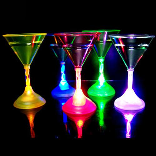 verre martini lumineux led