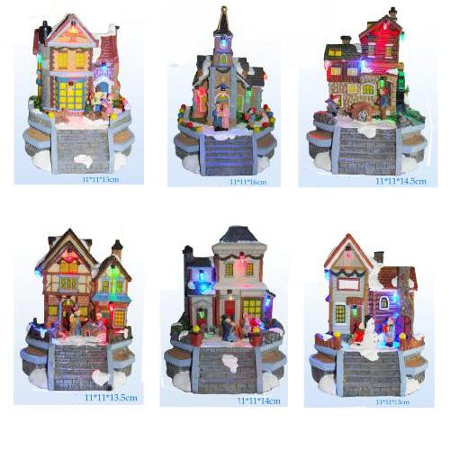 maison village de noel Villages et maisons miniatures de Noël sur Grossiste Chinois  maison village de noel