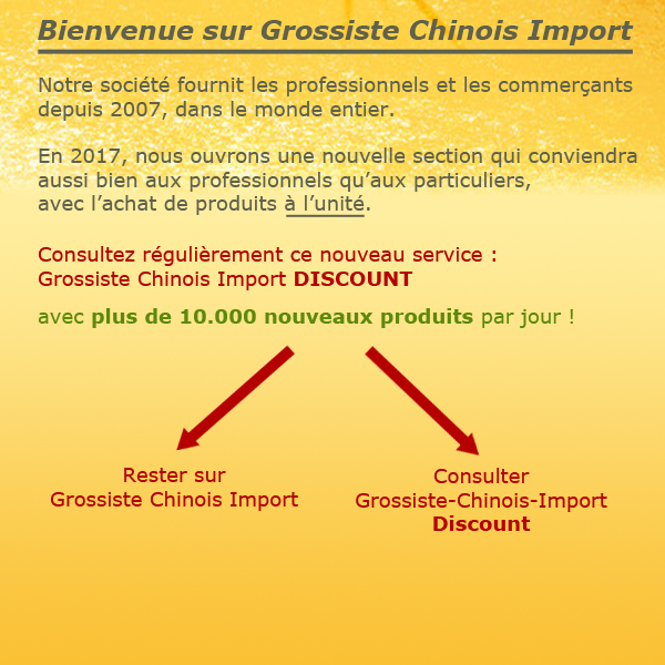 Acc�s au site Grossiste Chinois Import Discount